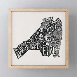 Monmouth County, New Jersey Map Framed Mini Art Print
