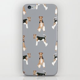 Wire Fox Terrier dog breed pure breed dog lover gifts iPhone Skin