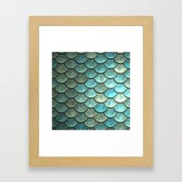 Mermaid Scales Framed Art Print