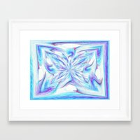 pantone Framed Art Prints featuring Butterfly - Pantone by Bella Mahri-PhotoArt By Tina