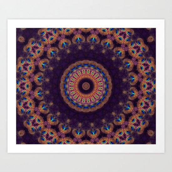 Jewelled Peacock Art Print