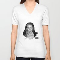 lindsay lohan V-neck T-shirts featuring lYNDSAY lOHAN IS better THAN you by Tiaguh