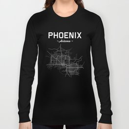Phoenix, Arizona - b/w Long Sleeve T-shirt