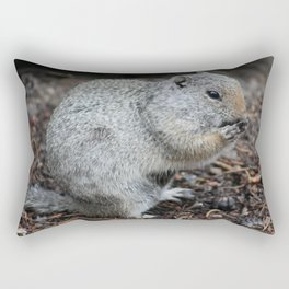 Uinta Ground Squirrel Enjoying a Meal II Rectangular Pillow