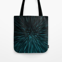 Blue and black Hypergalaxy Tote Bag