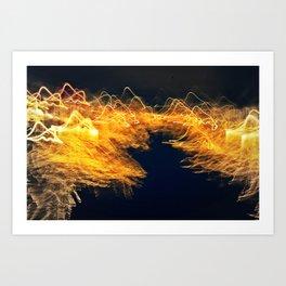 Digital landscape Art Print
