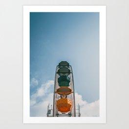 Ferry Wheel at the top of Tibidabo Art Print