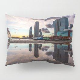 Reflection of the Rotterdam Skyline during sunset Pillow Sham