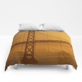 Stunning California Golden Sunrise Comforters
