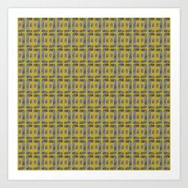 Bent line pattern 1 Art Print