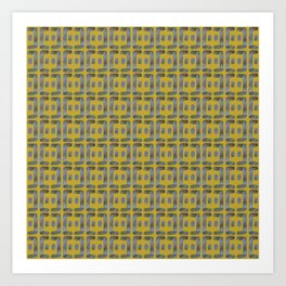 Bent line pattern 1 Art Print