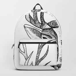 Stag linework drawing Backpack