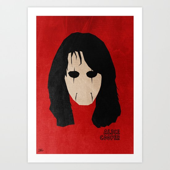 Rock Legends - Alice Cooper Art Print