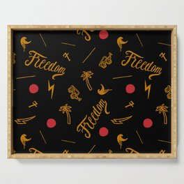 Freedom and Flickering Sunshine Thought Serving Tray