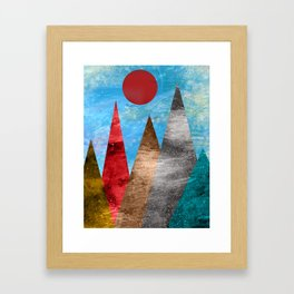 Sun and Mountains Framed Art Print