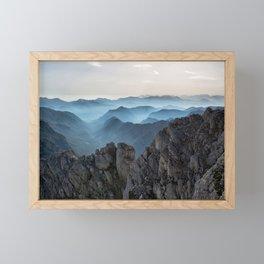Alps adventure Framed Mini Art Print