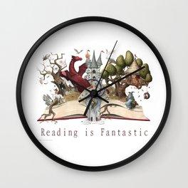 Reading is Fantastic Wall Clock
