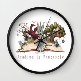Reading is Fantastic Wall Clock