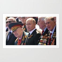 Steve On The Beach@Instagram #Society6 Vladimir Vladimirovich Putin Владимир Владимирович Путин BV Art Print