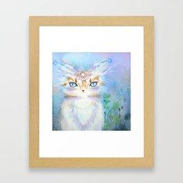 Lavadrille Cat : Guardian of the Mind Framed Art Print