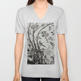 Peacock Tree Natural Unisex V-Neck