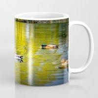 ducks Mugs featuring ducks by  Agostino Lo Coco