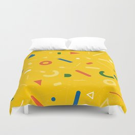 Almost Friday - pattern yellow Duvet Cover