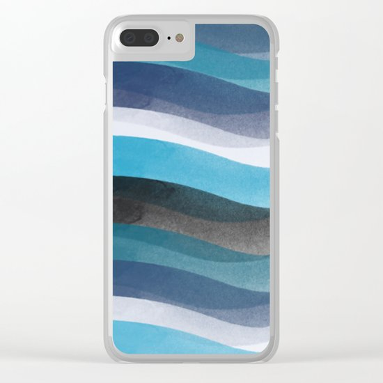Blue lines Clear iPhone Case