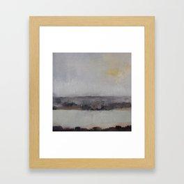 quiet as death Framed Art Print