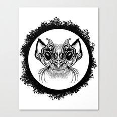 Half Hairy Angry Monkey Canvas Print