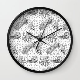 Cephalopods  Wall Clock