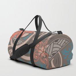 Polynesian Coral Tribal Theads Duffle Bag