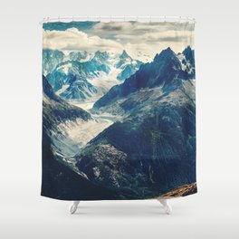 The Mountain Pass Shower Curtain