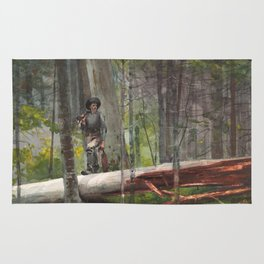 Winslow Homer - Hunter in the Adirondacks, 1892 Rug