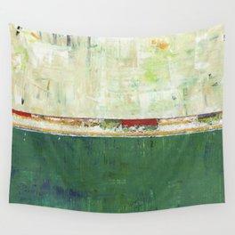 Limerick Irish Ireland Abstract Green Modern Art Landscape Wall Tapestry