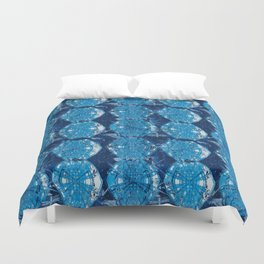 Cyanotype Diamonds Duvet Cover