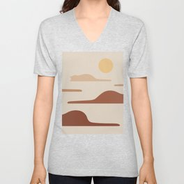 Cat Landscape 27 Unisex V-Neck
