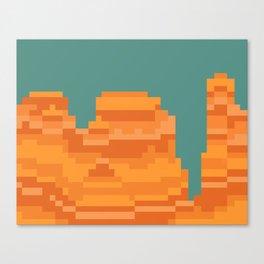 pixel grand canyon Canvas Print