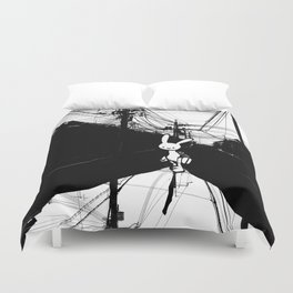 minima - beta bunny / noir Duvet Cover