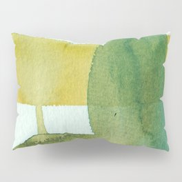 Green Stem Abstract Painting Pillow Sham