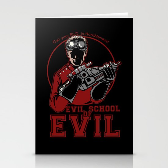 Dr. Horrible's Evil School of Evil Stationery Cards