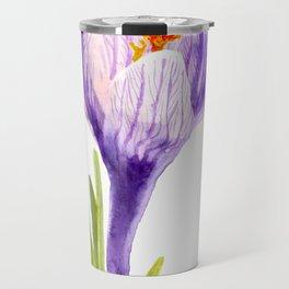 Delicate spring flower of crocus Travel Mug