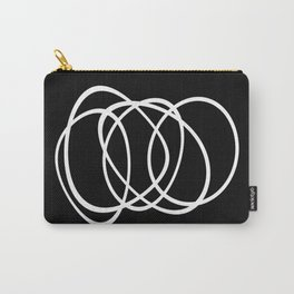 Mid Century Black And White Minimalist Design Carry-All Pouch