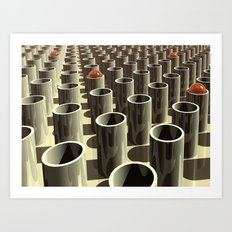 Stockyard of Cylinders Art Print