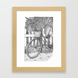 Fresh bicycle, black-and-white Framed Art Print