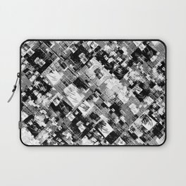 Black and White Patchwork Grunge Laptop Sleeve