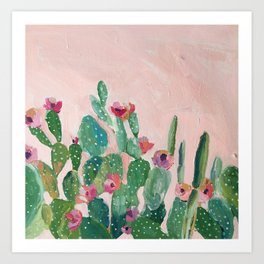 Prickly Pear Flower Art Print