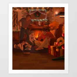 Apple Strength Christmas Art Print
