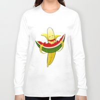 dessert Long Sleeve T-shirts featuring Fruit dessert by Bakal Evgeny