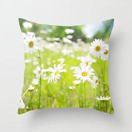 Daisy Meadow Throw Pillow